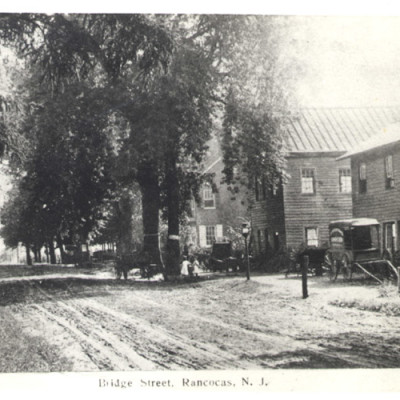 Blacksmith and Wheelwright Shops, Bridge Street, Rancocas. Courtesy N. Dunfee.