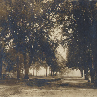 Centerton Road heading out of Rancocas, 1908