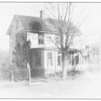 103 Main Street. Part of the Greene plantation, marked by the Hickory Trees and Black Oaks in the 1600's. Land owners, such as Jacob Wills, Samuel Haines, Aaron Wills and Robert Haines were all connected with this property. Robert and Gertrude Haines, 1872, were the names registered on the earliest deed to indicate that the property included a house.