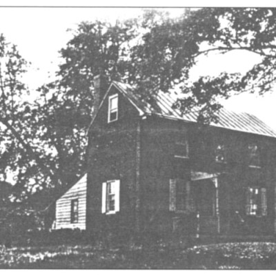 Schoolmaster's House: 102 Main Street. Second oldest house in town. Erected in 1810 for the schoolmaster, John Gummere, who taught at the little schoolhouse until 1811. He then moved to Burlington and founded the Academy for Boys on East Union St. He also was one of the founders of Haverford College and later president of the college.