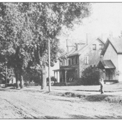 Episcopal Church up until the 1900's. Then it was torn down. The house next to it is 124 Main Street.