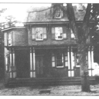 200 Bridge Street. Dated 1842 and called the David Woolman house. The lovely porch was removed over 70 years ago.