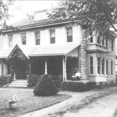 This house was once part of a very large track of land. This house was mentioned in the conveyance of the deed from Ella H. Lippincott to Joseph and John Wills in 1883-84.