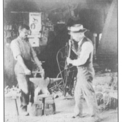 Blacksmiths: Walter and William Fish, 1908
