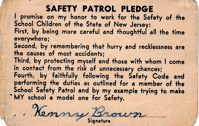 KennyBrown,SafetyPatrolMemberCard,1954 2 c