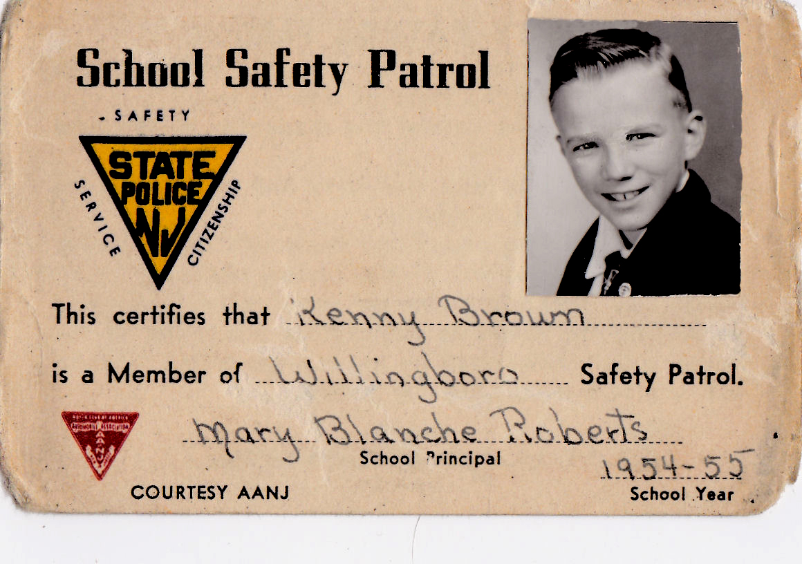 KennyBrown,SafetyPatrolMemberCard,1954 c